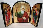 Андрей Первозванный, с Архангелами, традиционный Афонский складень 35 Х 24 см.