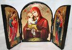 Почаевская Б.М., с Архангелами, традиционный Афонский складень 35 Х 24 см.