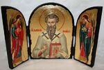 Василий Великий, с Архангелами, традиционный Афонский складень 35 Х 24 см.