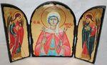 Виктория Св.Мч., с Архангелами, традиционный Афонский складень 35 Х 24 см.