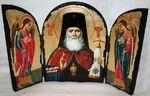 Лука Крымский (пояс), с Архангелами, традиционный Афонский складень 35 Х 24 см.