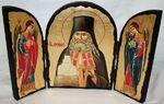 Арсений Св.Мч., с Архангелами, традиционный Афонский складень 35 Х 24 см.