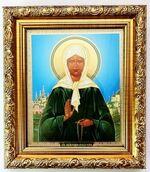 Матрона Московская, Икона в багетной рамке 14 Х 16