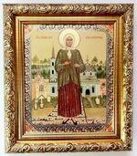 Ксения Петербургская (рост), Икона в багетной рамке 14 Х 16