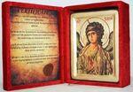 Арх. Гавриил, икона Греческая, в бархатном футляре, 13 Х 17