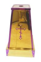 Подставка (тумба) под хоругви, кресты, иконы запрестольные, мини, с малым крестом.