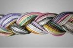 Гайтан разноцветный, косичка. Упак 100 шт.