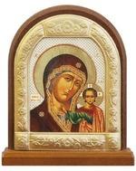 Казанская Б.М. Икона настольная арка на подст. средняя, с фигурным багетом 9.5 Х 8 см.