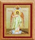 Ангел Хранитель. Икона автомоб. прямоуг.,дерево,полигр.,скотч,(35х45)