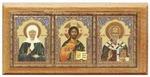Триптих (№ 23), Матрона Московская.,дерево, полигр.,скотч