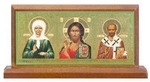 Матрона Московская. Икона настольная триптих на подст. 9 Х 4,5 см.